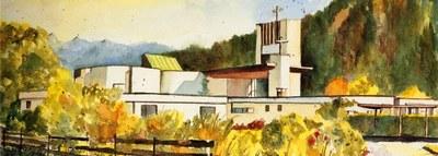 Aquarell Friedenskirche