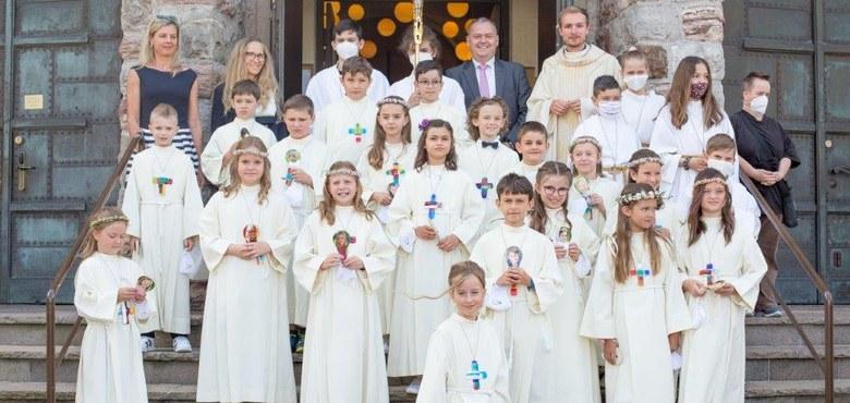 Erstkommunionkinder der Pfarre Herz Mariä
