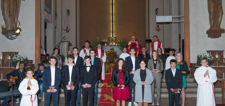Am 2. Oktober 2020 konnten wir mit unseren Jugendlichen ein schönes Glaubensfest feiern.
