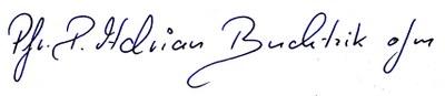 Unterschrift P. Adrian