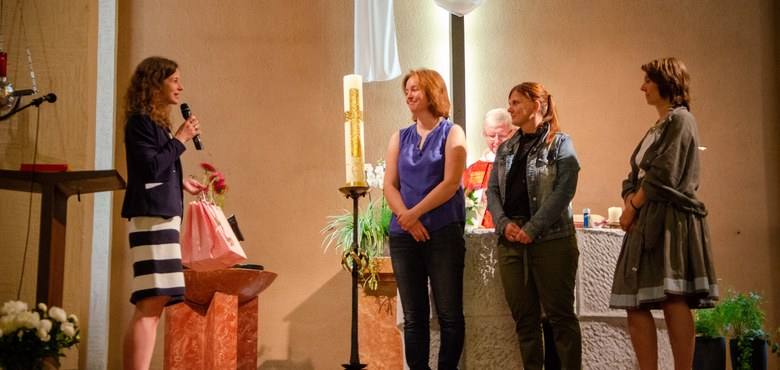 Familiengottesdienst zum Pfingstsonntag 2019 - Katja, Martina und Sabine - vielen Dank!