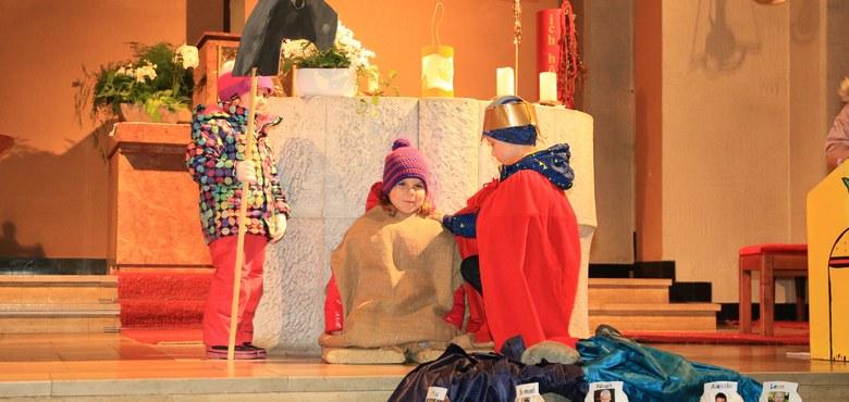 Martinsfeier im Kindergarten Heilig Kreuz