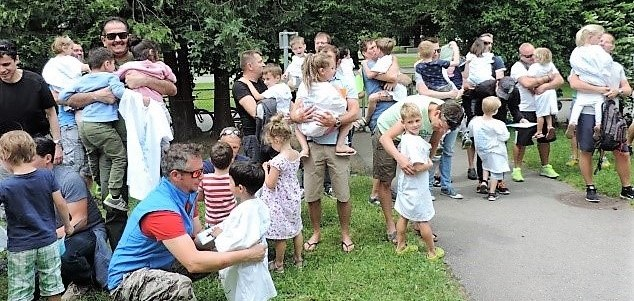Vatertag im Pfarrkindergarten Heilig Kreuz