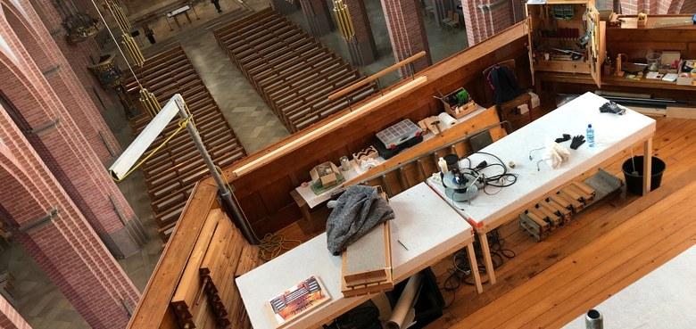 Führung auf der Orgel-Baustelle
