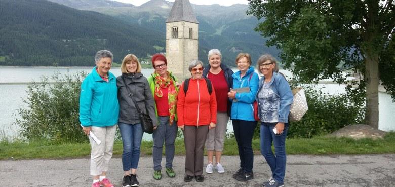 """Die Frauenrunde """"Schnecke"""" machte zu ihrem 25jährigen Bestehen einen Ausflug ins Südtirol."""