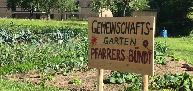 """Einweihung des Gemeinschaftsgarten """"Pfarrers Bündt"""""""