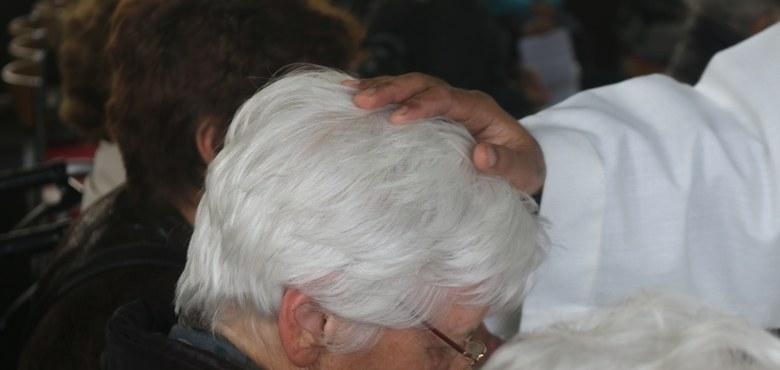 Krankensalbung in der Katharine-Drexel Kapelle