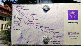 Vorschaubild Jakobsweg von Thüringen nach Rankweil