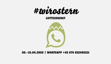 Teaserbild für den Artikel WhatsApp-Gottesdienst: #wirostern