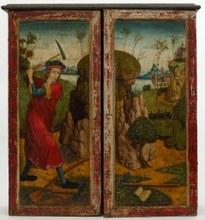 Geschlossene Flügel des Silbertaler Altares mit einer Bergmannsdarstellung (Ende 15. Jh.)