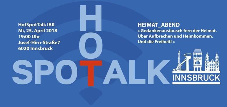 """Hot-Spot-Talk - Innsbruck """"Heimat Abend"""" mit Bischof Benno"""