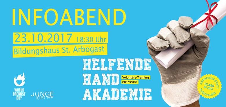 "Info Abend:  Volontärs-Training ""Helfende Hand Akademie 2017/18"""