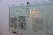 Carl Lampert Gedenktafel mit Abschiedsbrief