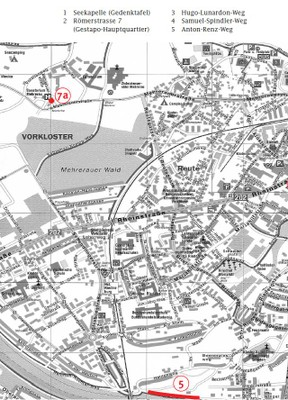Gedenkweg Bregenz Karte1