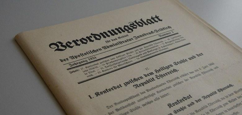 80 Jahre Konkordat Katholische Kirche Vorarlberg