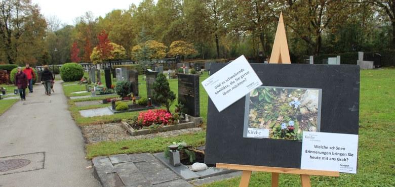 Eine gute Begegnung am Friedhof
