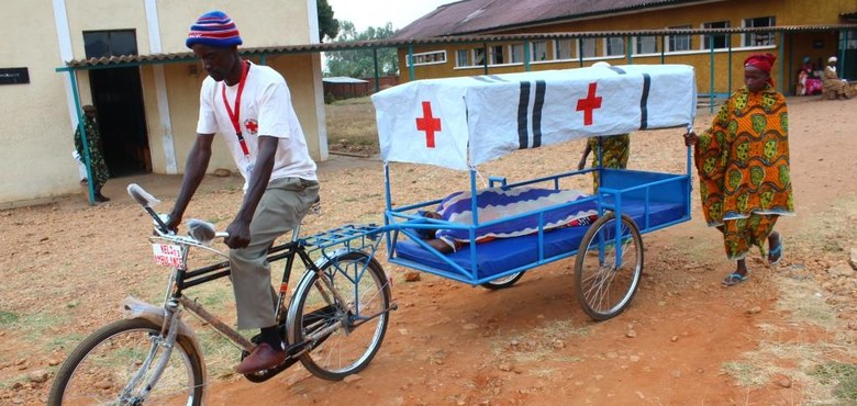 Mit dem Fahrrad ins Krankenhaus