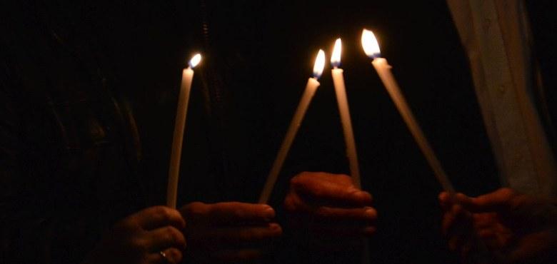28. Sonntagsdemonstration mit Lichtermeer