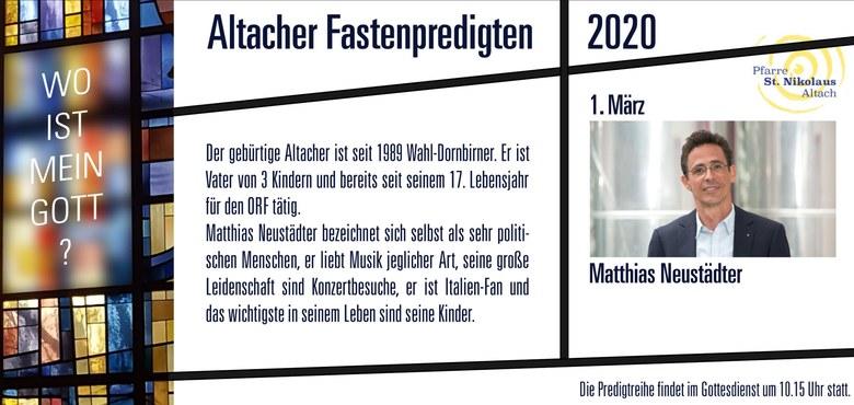 Altacher Fastenpredigten 2020