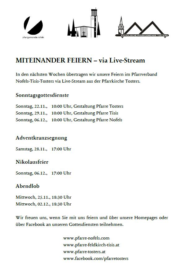 Plakat Livestream Nov 2020
