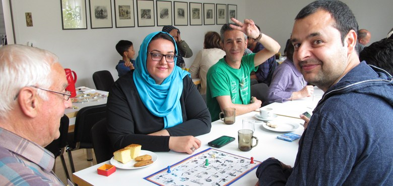Deutschcafé für Flüchtlinge