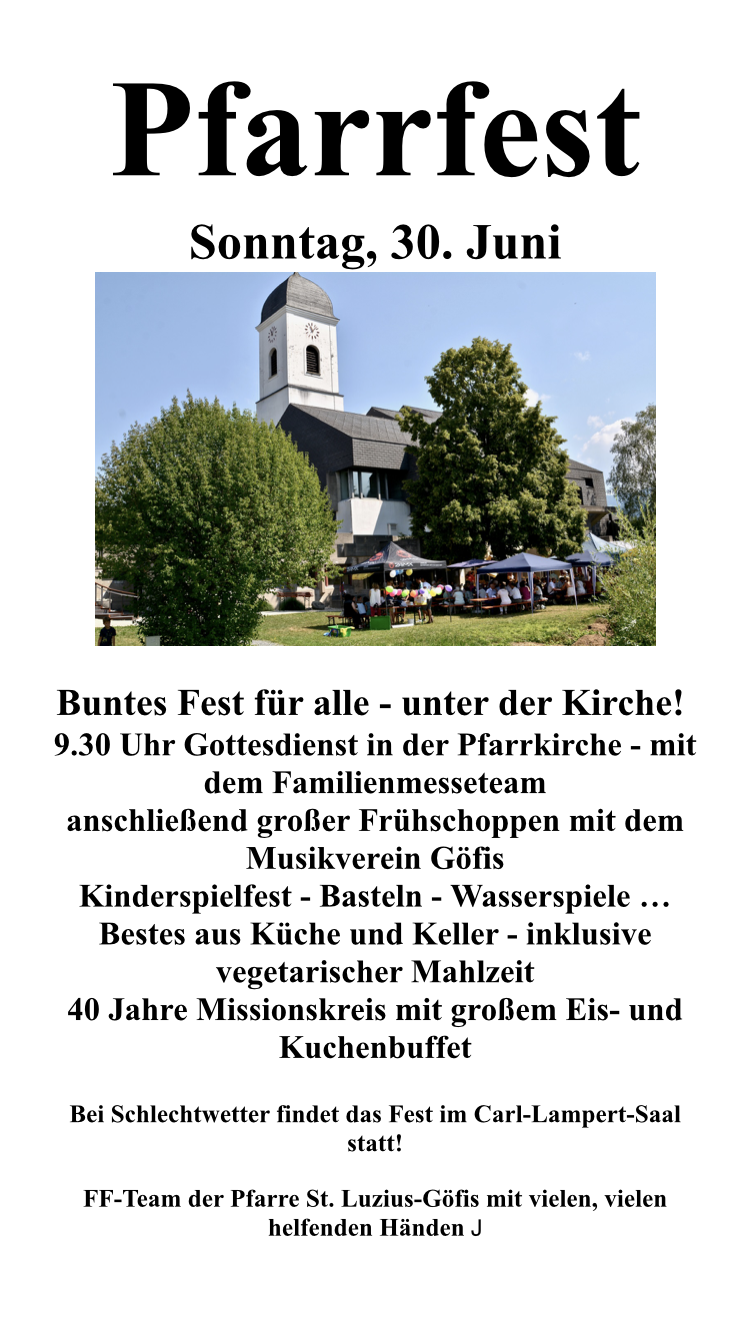 Pfarrfest   Plakat