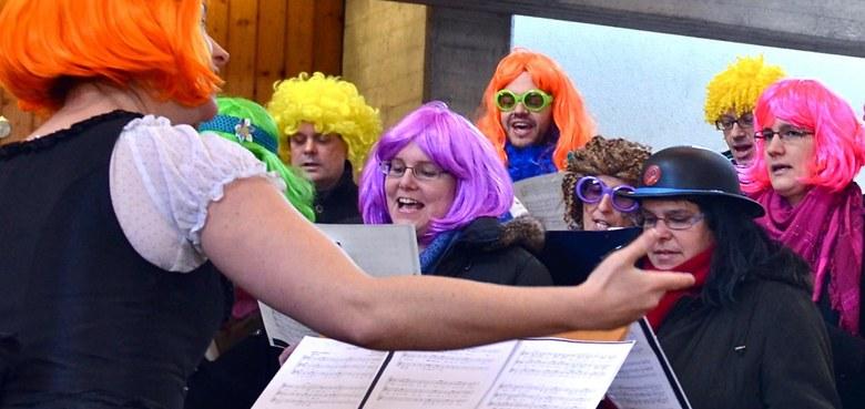 Faschings-Wortgottesfeier, musikalisch mitgestaltet vom Chörle