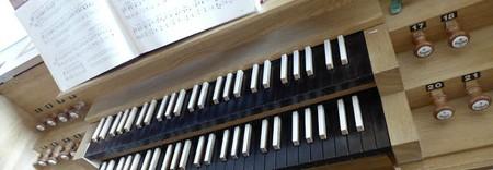 Orgel Tastatur