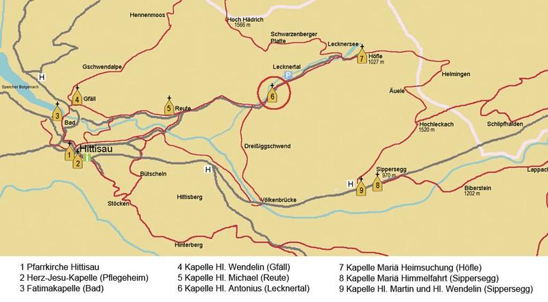 Karte Lecknertal