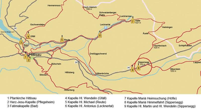 Karte Sippersegg