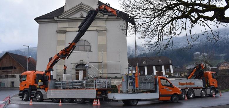 Sanierung des Kirchturms der Pfarrkirche Hl. Georg
