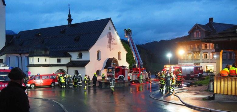 Feuerwehrübung Pfarrkirche