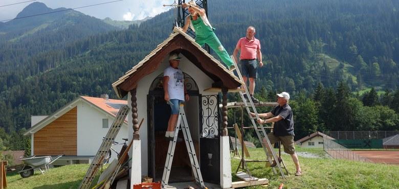 Renovierung der Wegkapelle hl. Sebastian Innerwald