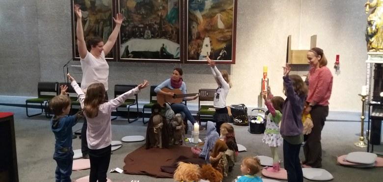 Jesufeier mit Kleinkindern - alle Termine