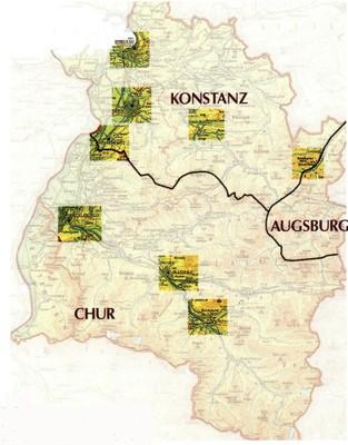 Karte zur Diözesangeschichte