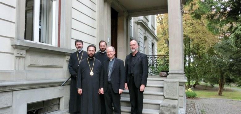 Metropolit Arsenios von Österreich bei Bischof Benno Elbs