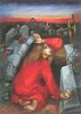 Maria Magdalena vor dem leeren Grab